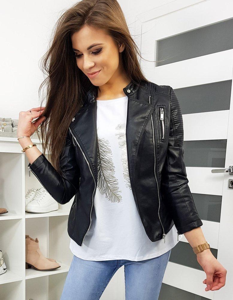Dámská černá koženková bunda TY1187 Feifa 8932 Velikost: L