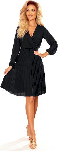 Černé šifónové šaty CAMILLA 313-7 Velikost: S