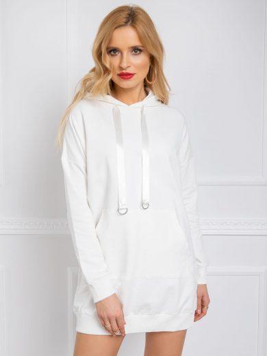 Dámské béžové mikinové šaty PR-SK-083.50P-ecru Velikost: S
