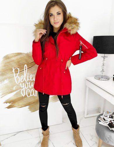 STEEPS Červená dámská zimní bunda TY1517 Velikost: XL