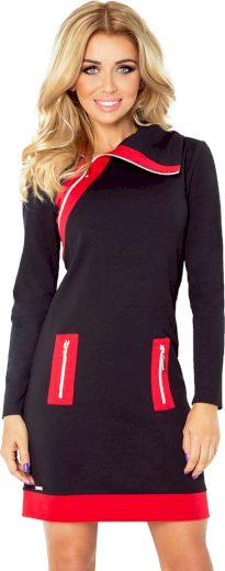 Černé šaty s kapsami SHANNON 129-4 Velikost: 2XL
