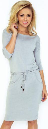 Sportovní šedé šaty FEDERICA 13-52 Velikost: S