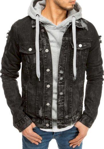 Černá pánská džínová bunda TX3619 Velikost: L