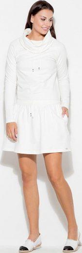Smetanové mikinové šaty K260 Ecru Velikost: L
