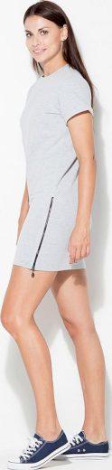 Šedé sportovní šaty se zipem K349 Grey Velikost: L