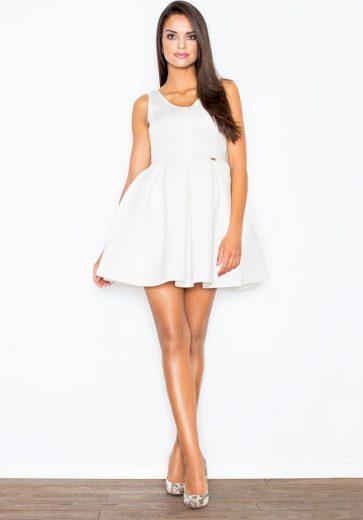 Dámské šaty ve smetanové barvě M344 Velikost: L