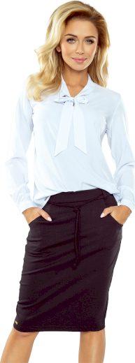 Elegantní bílá halenka s mašlí VALERIO 140-8 Velikost: S