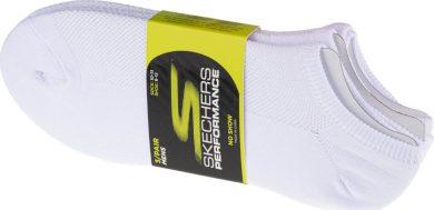 SKECHERS 3PK NO SHOW STRETCH SOCKS S101715-WHT Velikost: 41-46