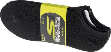 SKECHERS 3PK NO SHOW STRETCH SOCKS S101715-BLK Velikost: 41-46