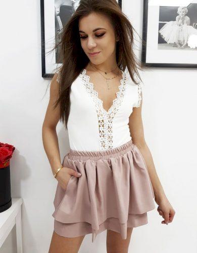Dámská pudrově růžová sukně cy0187 Velikost: ONE SIZE