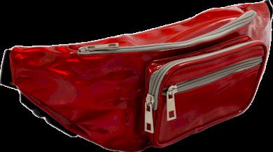 HOLOGRAFICKÁ ČERVENÁ LEDVINKA 113 RED Velikost: ONE SIZE