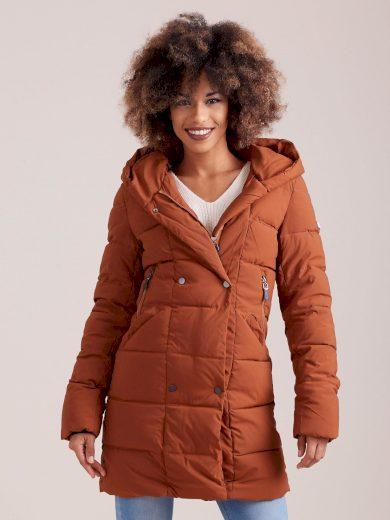 Dámská hnědá zimní bunda YP-KR-bx4186.08P-brown Velikost: L
