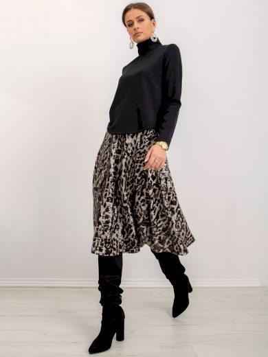 Černá dámská sukně vzorovaná s flitry BSL-SD-13043-black Velikost: M