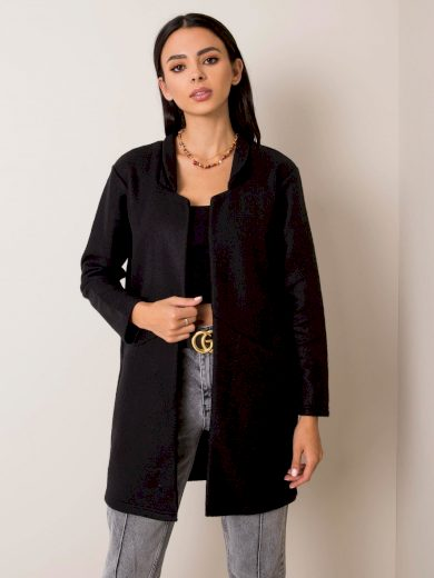 Černý dámský kabát D68500Y01744A6-black Velikost: M