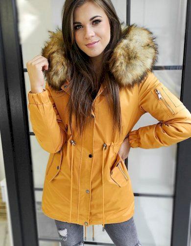 Žlutá dámská oboustranná bunda TY1455 Velikost: XL