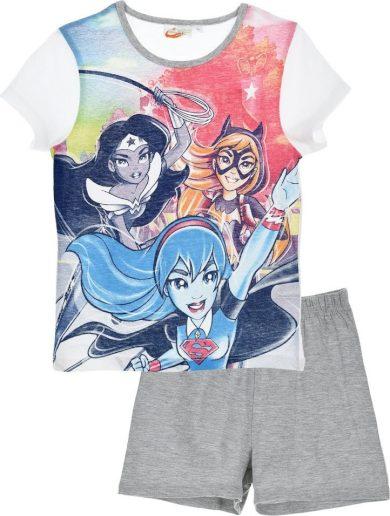 DC SUPER HERO GIRLS DÍVČÍ ŠEDO-BÍLÉ PYŽAMO Velikost: 98