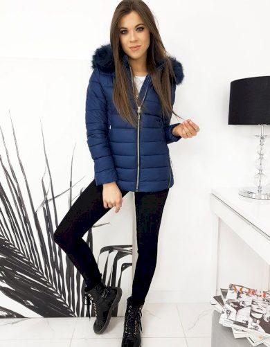 Tmavě modrá dámská zimní bunda TY1618 Velikost: M