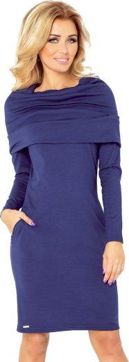 Tmavě modré šaty s kapsami ALESSIO 131-5 Velikost: S
