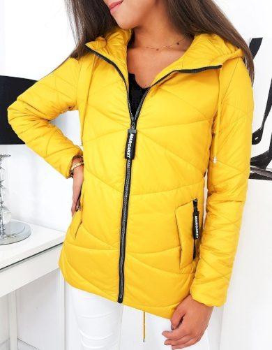 Žlutá prošívaná bunda MARGARET TY1279 Velikost: S