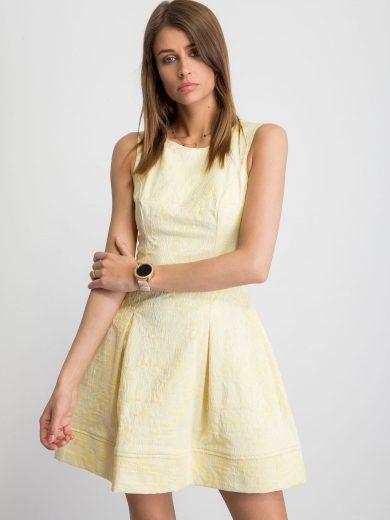 Dámské žluté šaty NU-SK-3642-701b.30P-yellow Velikost: 38