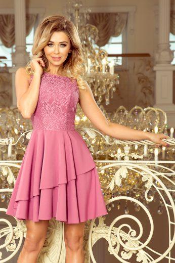 Elegantní lila šaty bez rukávů PAULETTE 236-1 Velikost: L
