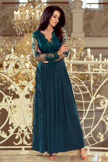 Zelené večerní šaty STEFANIA 213-1 Velikost: M