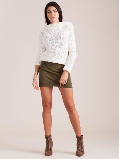 Khaki dámská sukně PL-SD-1574.17-khaki Velikost: L