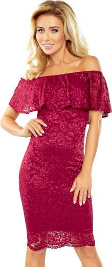 Dámské červené krajkové šaty GRACE MM 013-3 Velikost: XL
