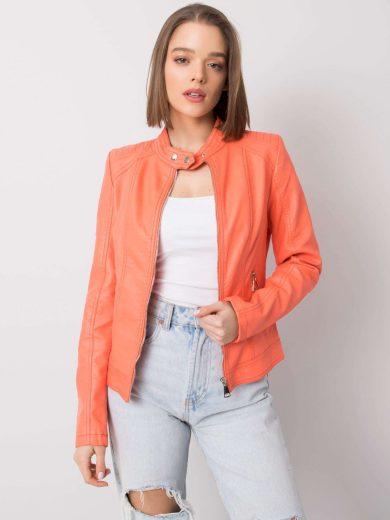 Oranžová dámská koženková bunda NM-DE-KR-G81.96P-orange Velikost: S