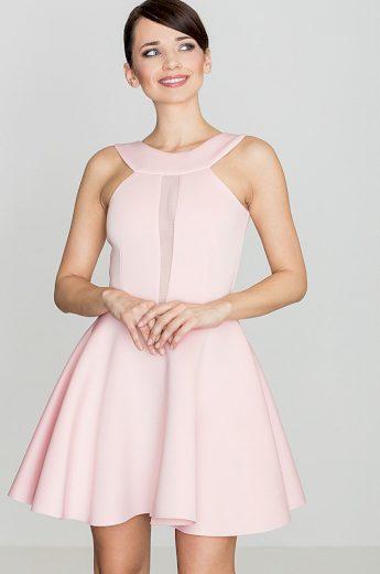 Dámské růžové šaty K270 Velikost: S