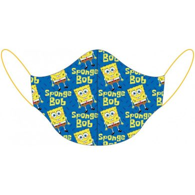 Dětská dvouvrstvá bavlněná rouška Spongebob - 100% bavlna - pro děti 3 - 7 let