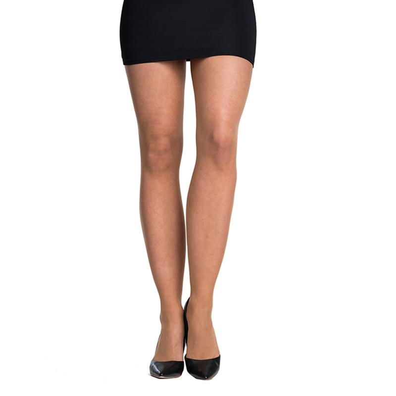 5PACK dámské silonové punčochy Bellinda béžové (290001-0230) S