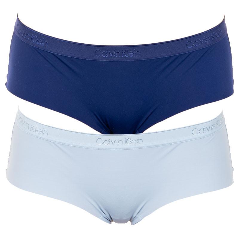 2PACK dámské kalhotky Calvin Klein modré (QD3696E-AAN) S