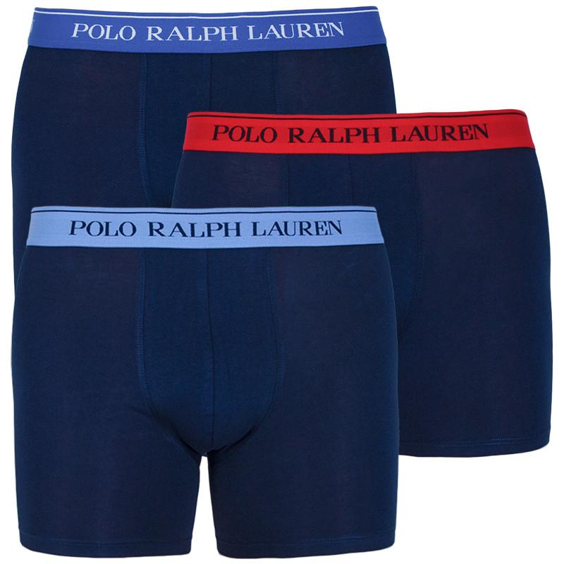 3PACK pánské boxerky Ralph Lauren tmavě modré (714713772004) S