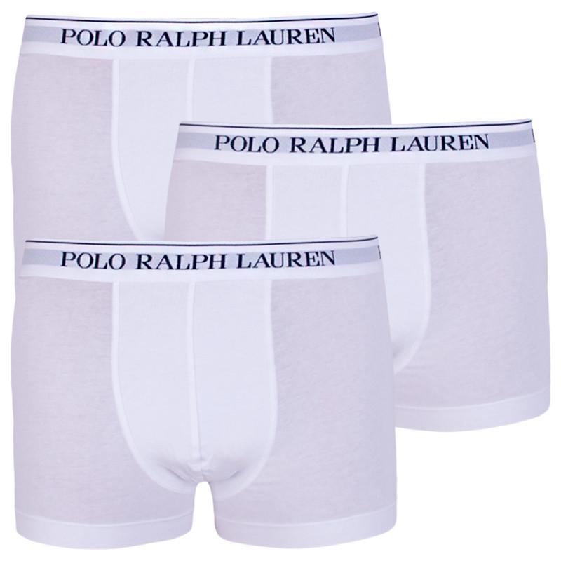 3PACK pánské boxerky Ralph Lauren bílé (714513424001) S