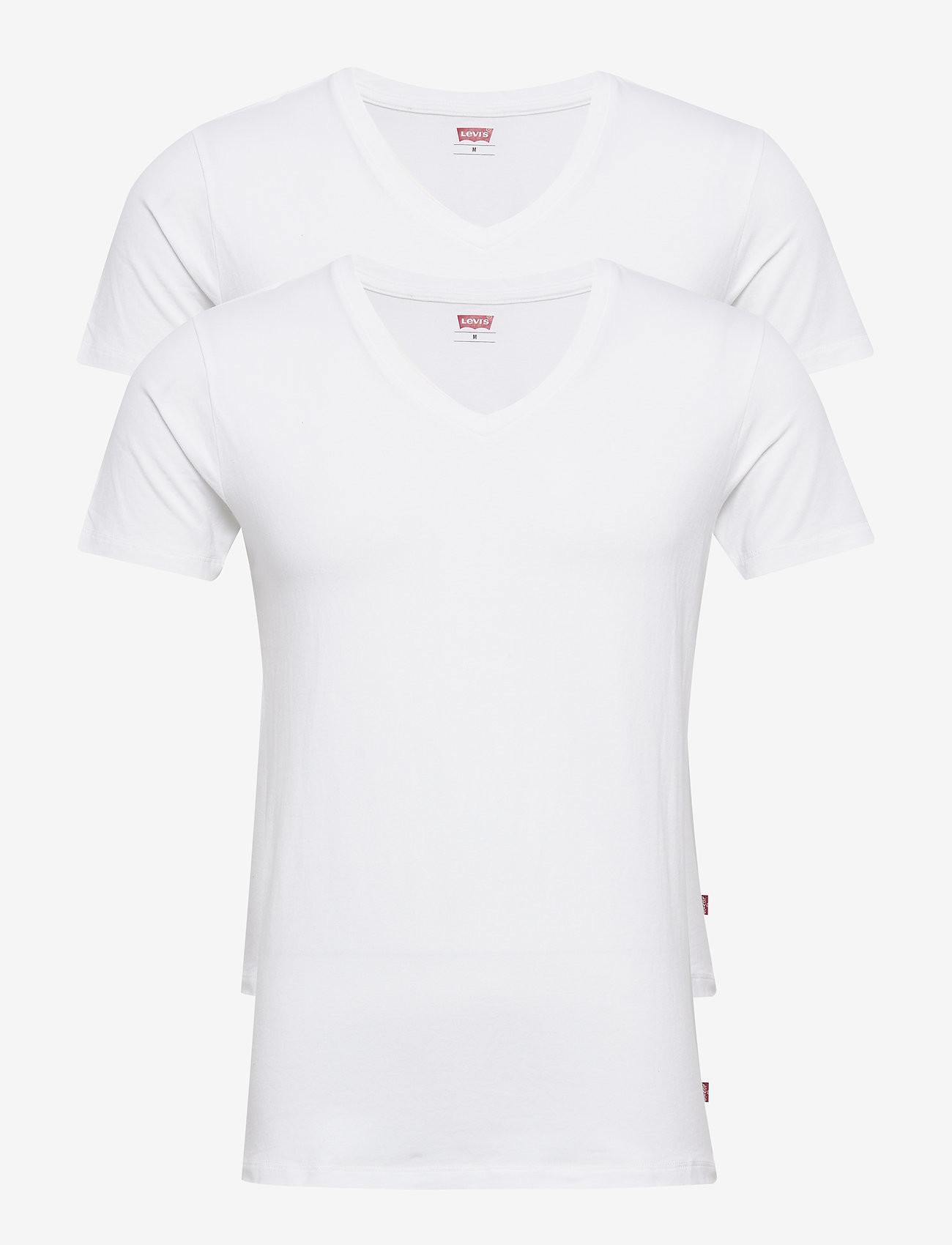 2PACK pánské tričko Levis V-neck bílé (905056001 300) L