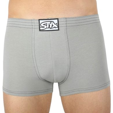 Pánské boxerky Styx klasická guma světle šedé (Q1062) M