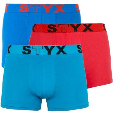 3PACK pánské boxerky Styx sportovní guma vícebarevné (G9676964) S