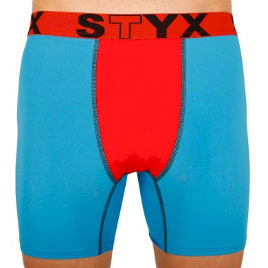 Pánské funkční boxerky Styx modré s červenou gumou (W961) L