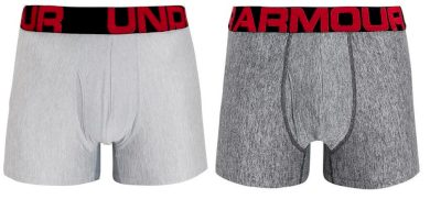 2PACK pánské boxerky Under Armour šedé (1363618 011) XL