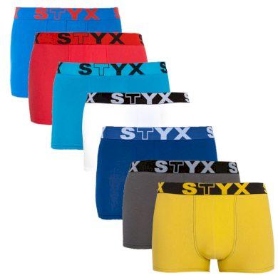 7PACK pánské boxerky Styx sportovní guma vícebarevné (G967686961636465) XXL
