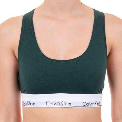 Dámská podprsenka Calvin Klein tmavě zelená (F3785E-CP2) L