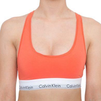 Dámská podprsenka Calvin Klein oranžová (F3785E-GPT) S