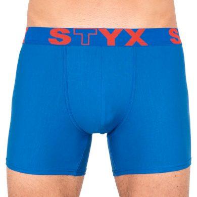 Pánské boxerky Styx long sportovní guma modré (U967) XXL