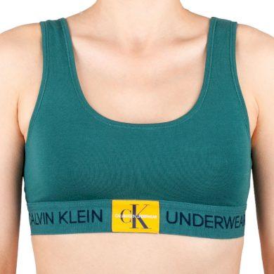 Dámská podprsenka Calvin Klein zelená (QF4918E-ZAY) M