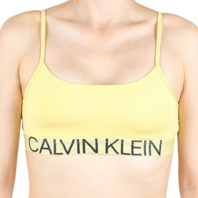 Dámská podprsenka Calvin Klein žlutá (QF5181E-HZY) M