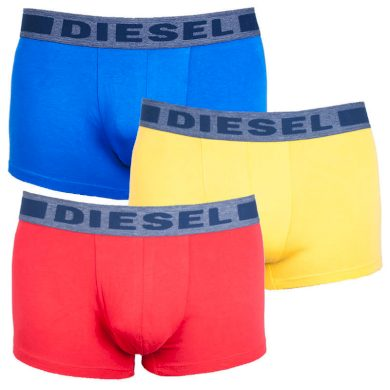 3PACK pánské boxerky Diesel vícebarevné (00SAB2-0BATB-E3953) M