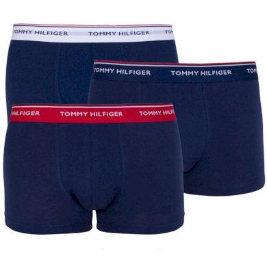 3PACK pánské boxerky Tommy Hilfiger tmavě modré (1U87903841 904) S