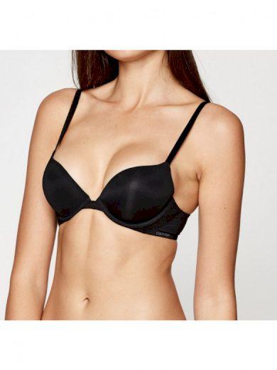 Dámská podprsenka Calvin Klein vyztužená s kosticemi černá (QF5613E-UB1) 70B