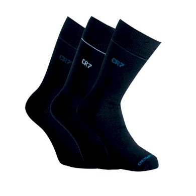 3PACK ponožky CR7 černé (8273-80-901) L
